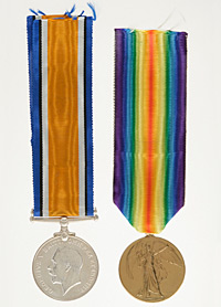 Medal set belonging to Private Hubert Maurice
