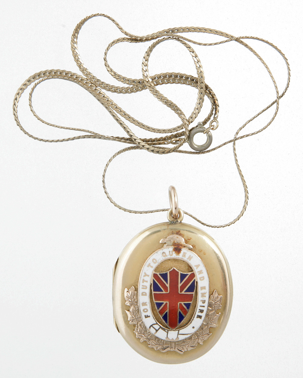Gold-filled pendant given to Georgina Pope