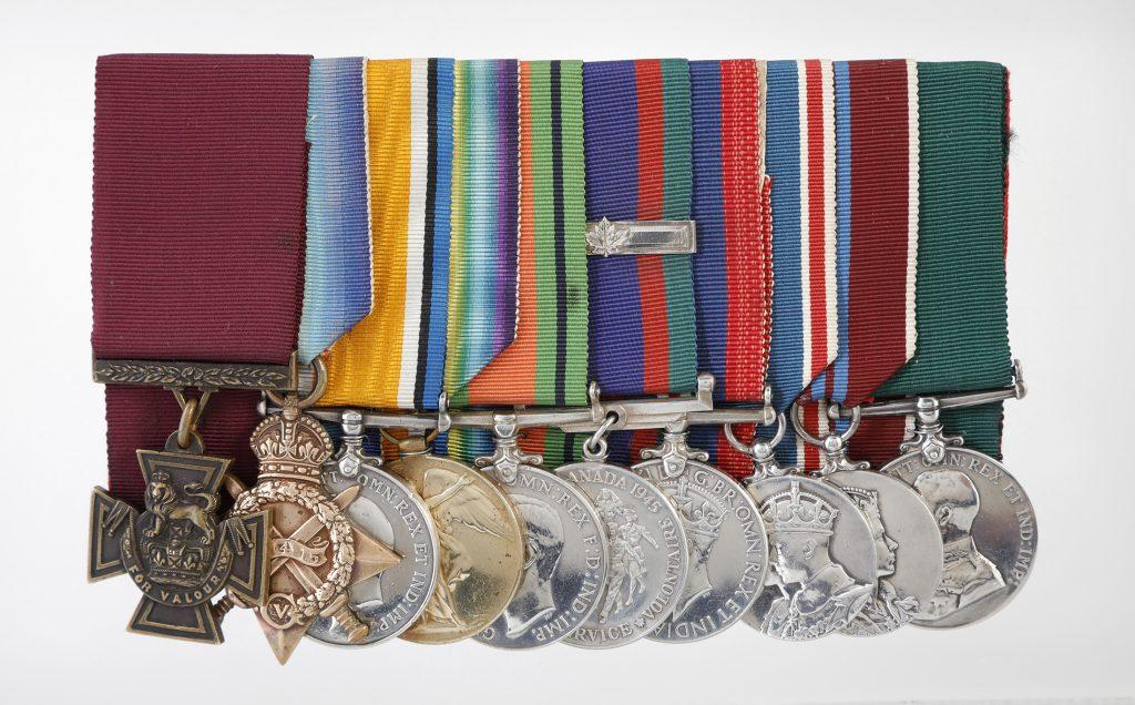 Colin Fraser Barron's medal set