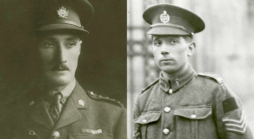 Portraits of Lieutenant-Colonel Harcus Strachan and Sergeant Colin Fraser Barron