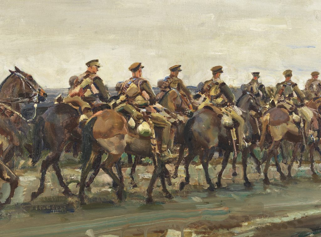 Painting of cavalry on the march