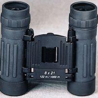 Black compact 8x21mm binoculars:: Paire de jumelles noire compacte 8x21mm