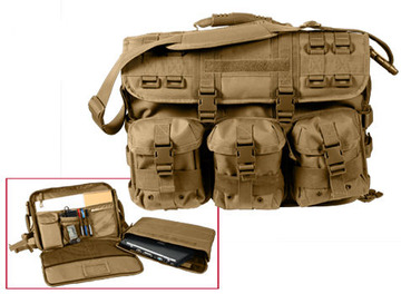 MOLLE tactical computer/briefcase coyote:: Malette ou serviette pour ordinateur portable MOLLE couleur brun