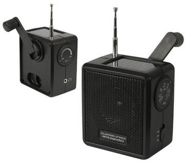 Solar wind up radio black:: Radio solaire et dynamo de couleur noir