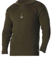 Acrylic commando sweater 1/4 zip olive drab:: Chandail en acrylique de style commando avec une fermeture