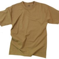 T-shirt poly/cotton brown:: T-shirt couleur brun