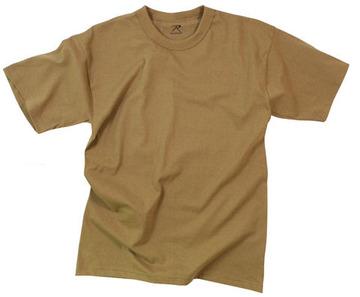 T-shirt poly/cotton brown:: T-shirt couleur brun