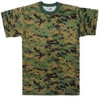 T-shirt woodland digital camo:: T-shirt camouflage sous-bois