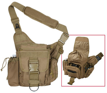 Advanced tactical bag in tan:: Sac tactique avanc