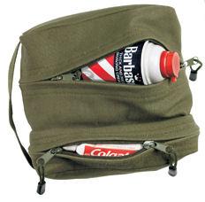Canvas dual compartment travel/shave kit olive drab:: Petite trousse de voyage/pour rasoir olive terne