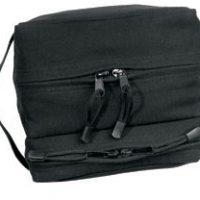 Canvas dual compartment travel/shave kit black:: Petite trousse noire de voyage/pour rasoir