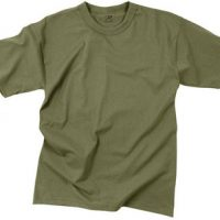 T-shirt poly/cotton olive drab:: T-shirt couleur olive tendre