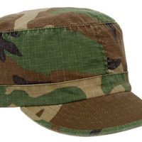 Women adjustable vintage fatigue cap woodland camo:: Casquette r