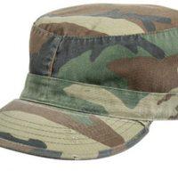 Vintage fatigue cap woodland camo:: Casquette couleur camouflage sous-bois