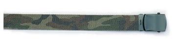 Olive drab/ camo reversible web belt:: Ceinture en toile reversible couleur olive tendre et camouflage