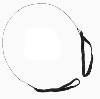 Commando wire saw with nylon hand straps:: Scie sur fil de type commando avec des sangles en nylon