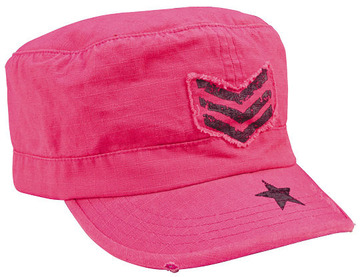 Women adjustable vintage fatigue cap with black sergeant stripes & star:: Casquette pour femme r