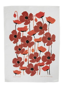 Poppy Red Tea Towel:: Serviette