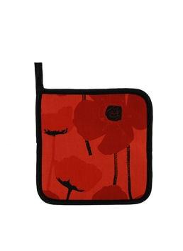 Poppy Red Potholder:: Sous-plat en tissu aux coquelicots rouges