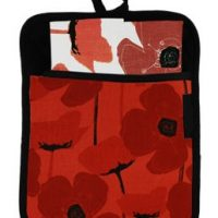 Poppy Red Pocket Potholder:: Poche sous-plat aux coquelicots rouges
