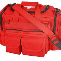 Emergency Bag with Cross Printed on Top Flap:: Sac d'urgence ou de secours