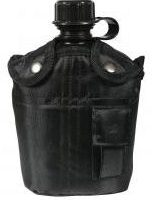Aluminum Canteen with black sleeve