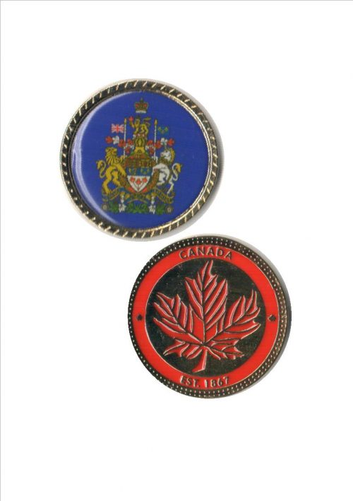 Commemorative Coin with Coat of Arms of Canada