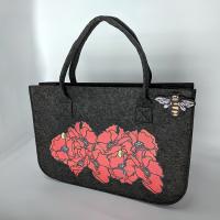 Poppy Felt Small Shopping Bag