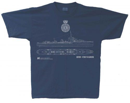 HMS Crusader Blue Print T-Shirt