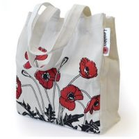 Small Poppy Shopping Tote Bag