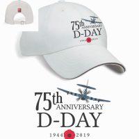 D-Day 75th Anniversary White Baseball Cap