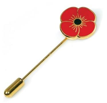 Poppy Scarf Pin