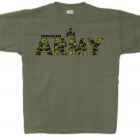 Canadian Army Heather Military Green T-Shirt