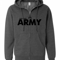 Canadian Army Heather Charcoal Full Zip Hoody