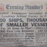 Newspaper Replica of 1944
