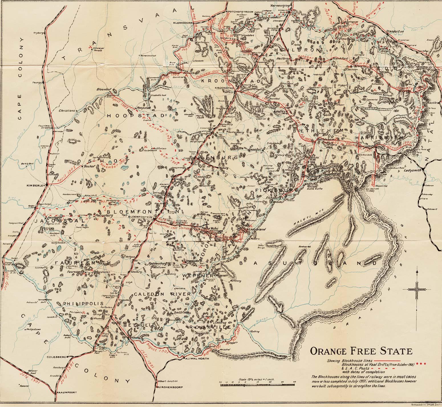 Warmuseum Ca South African War Maps Boer Republic Of Orange
