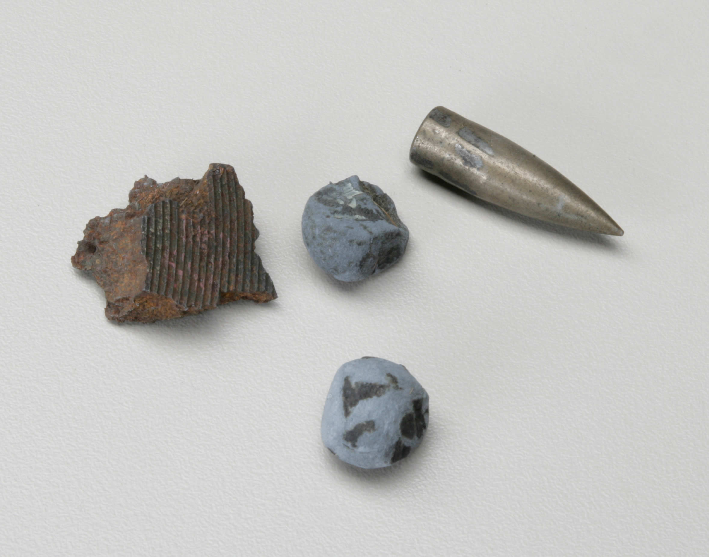 Shell Shrapnel Fragments and Bullets
