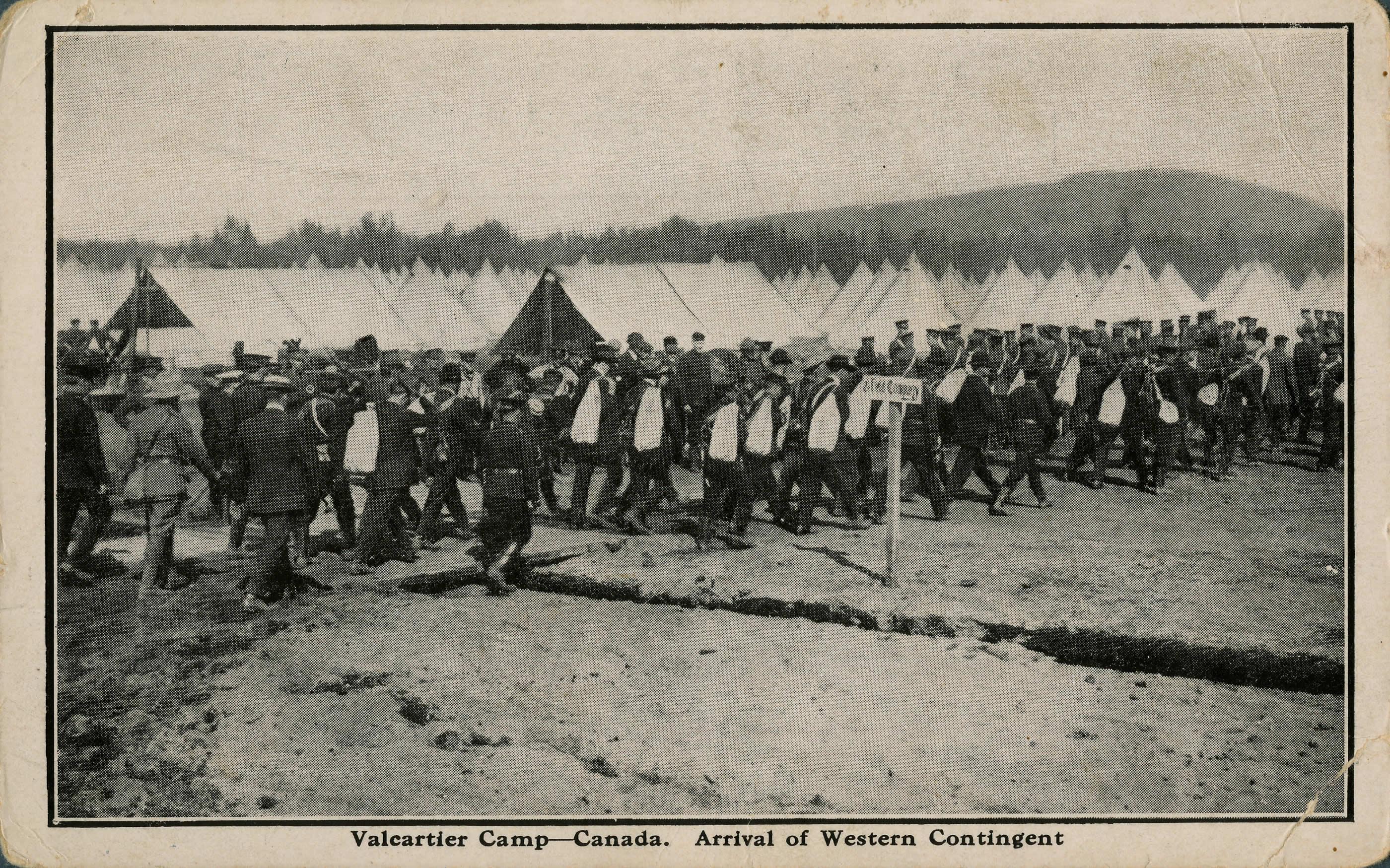 Arrival of Western Contingent, Valcartier