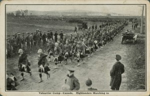 Highlanders Marching to Valcartier