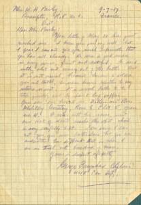 Letter of Condolence
