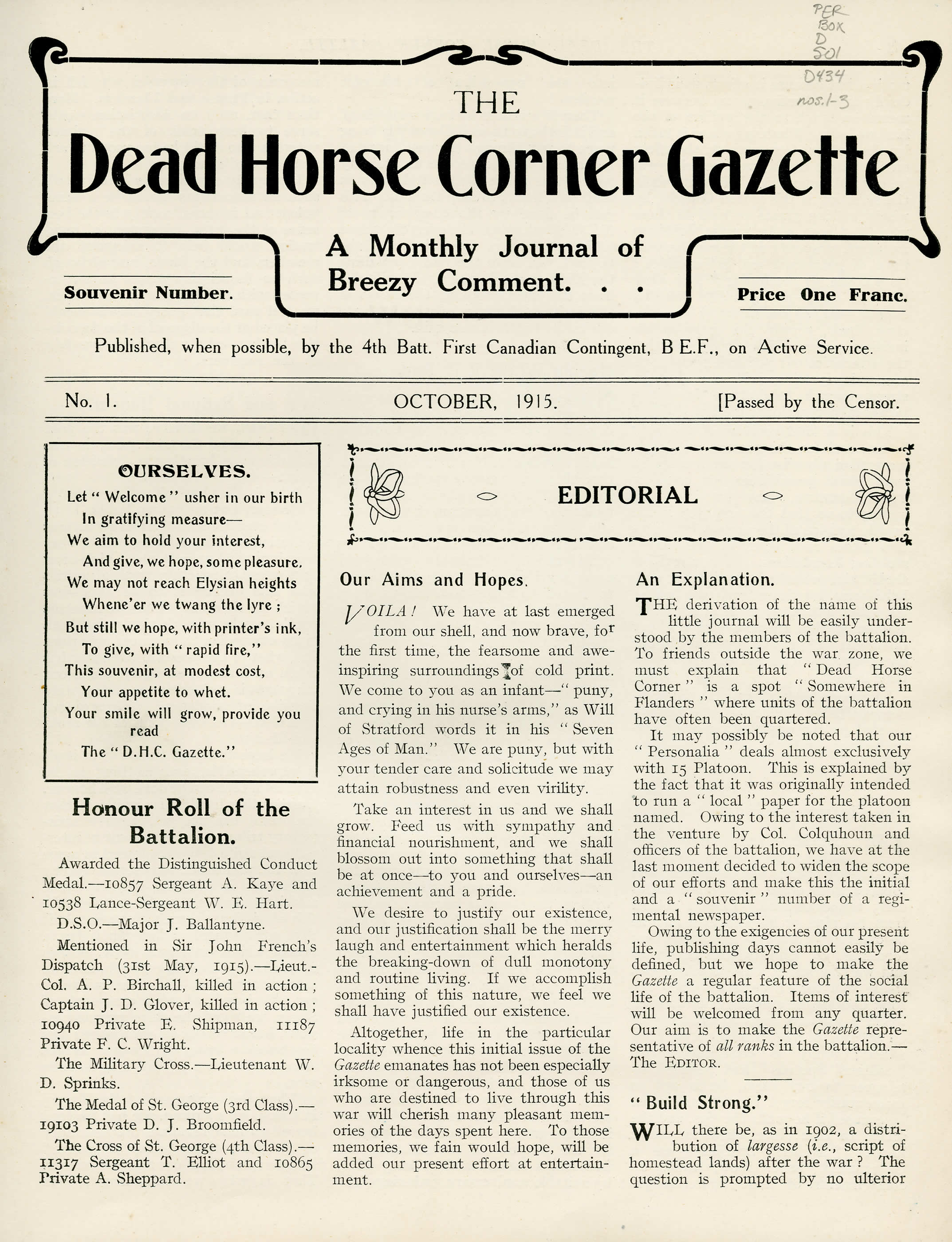 The Dead Horse Corner Gazette