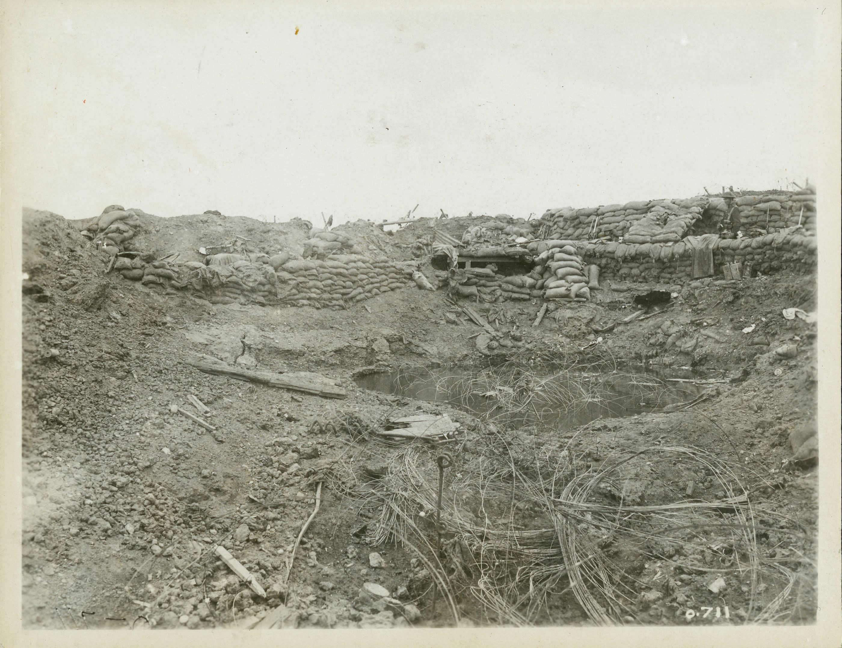 German Mine Crater