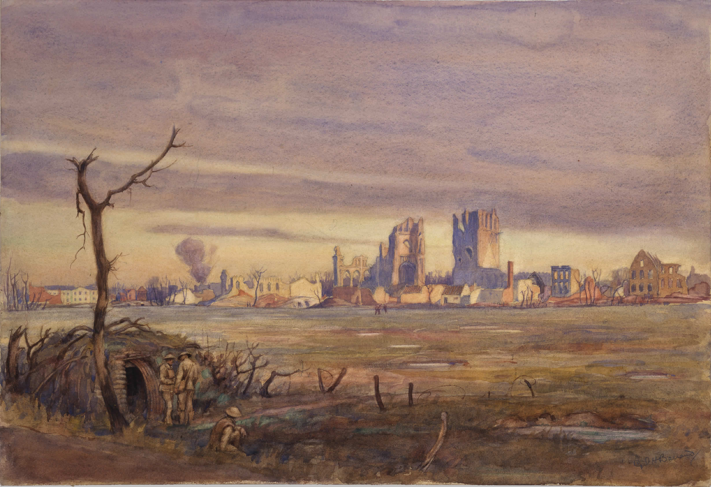 <i>First Glimpse of Ypres</i>