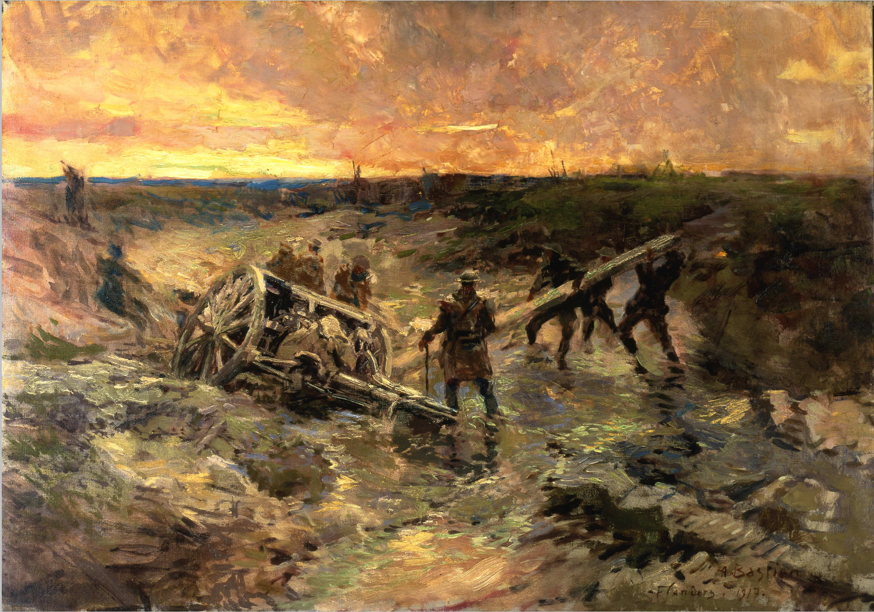 Official Art Canadian Gunners In The Mud Passchendaele