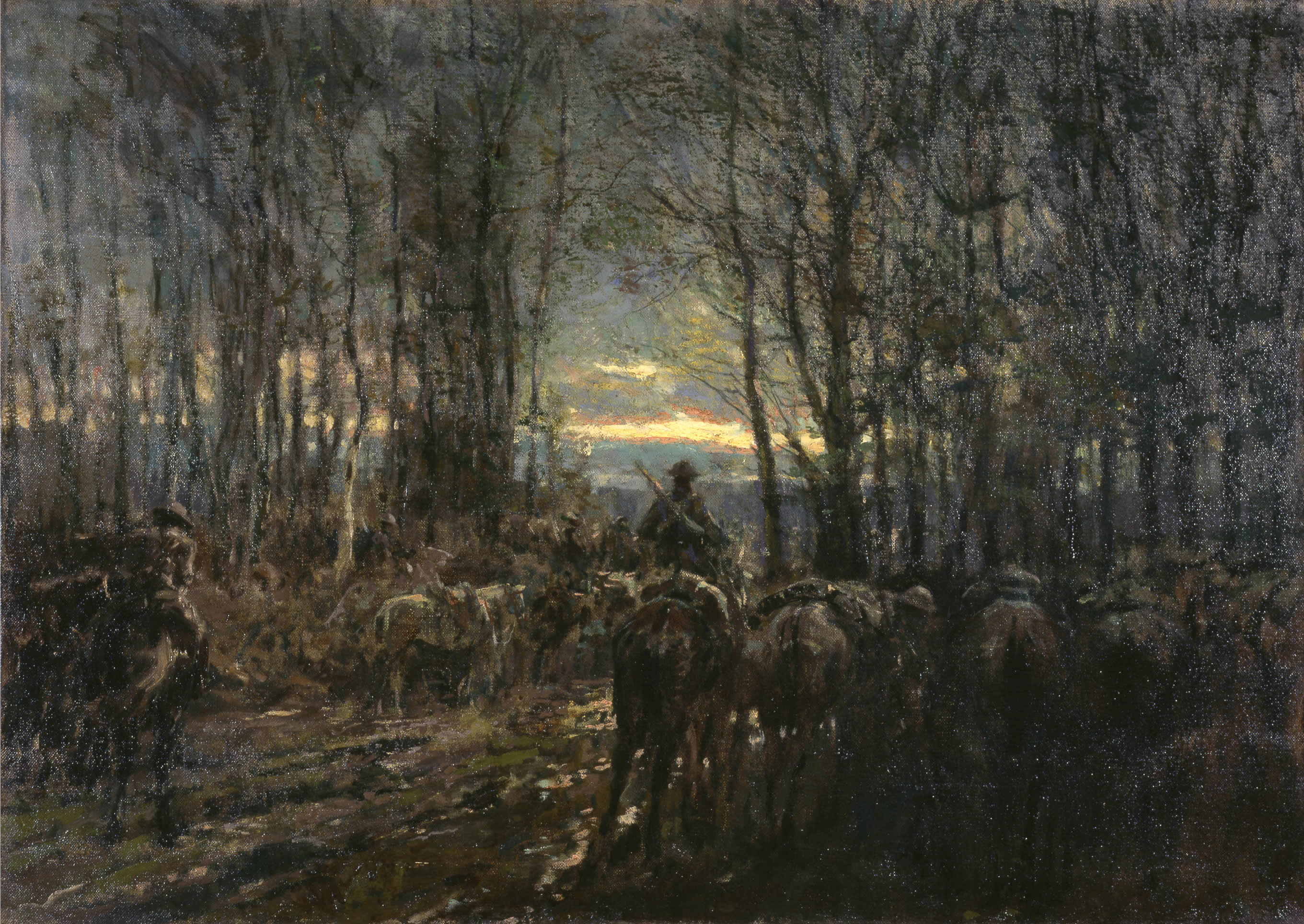 <i>Canadian Cavalry Ready in a Wood</i>