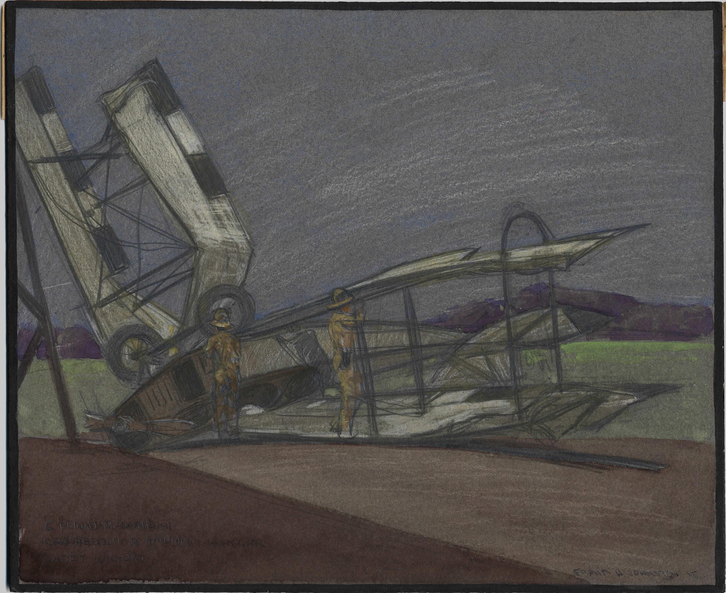 Crashed Curtis JN-4 Aircraft