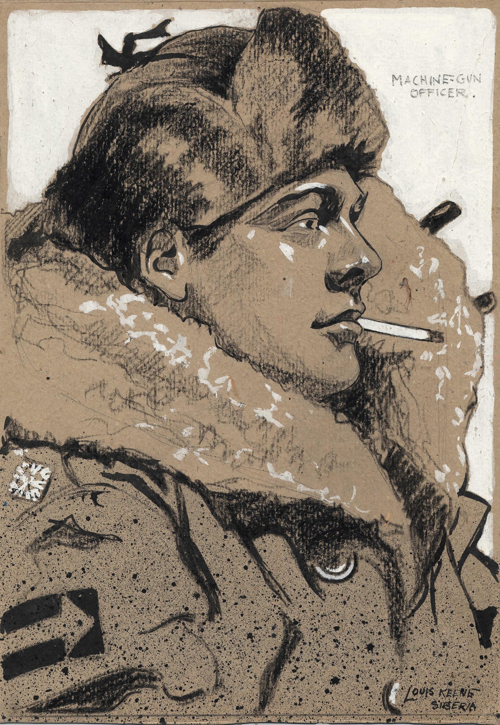 <i>A Machine Gun Officer, Siberia</i>
