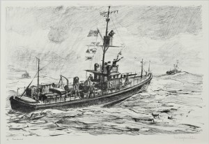 Minesweepers at Sea