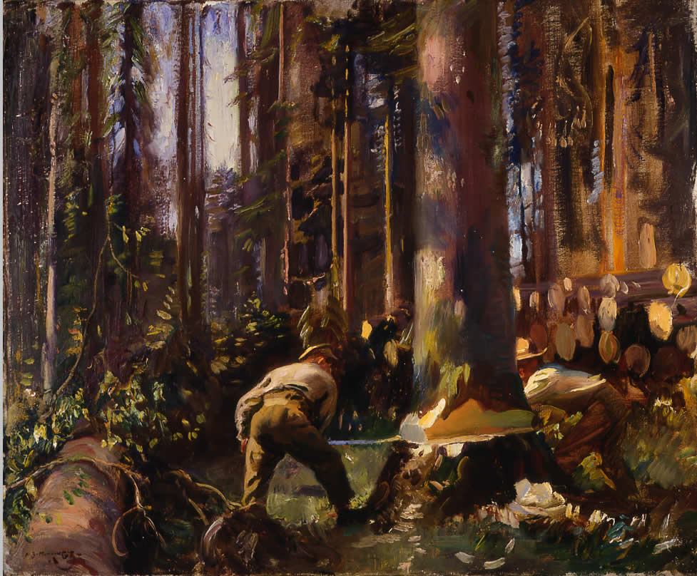 Felling a Tree in the Vosges