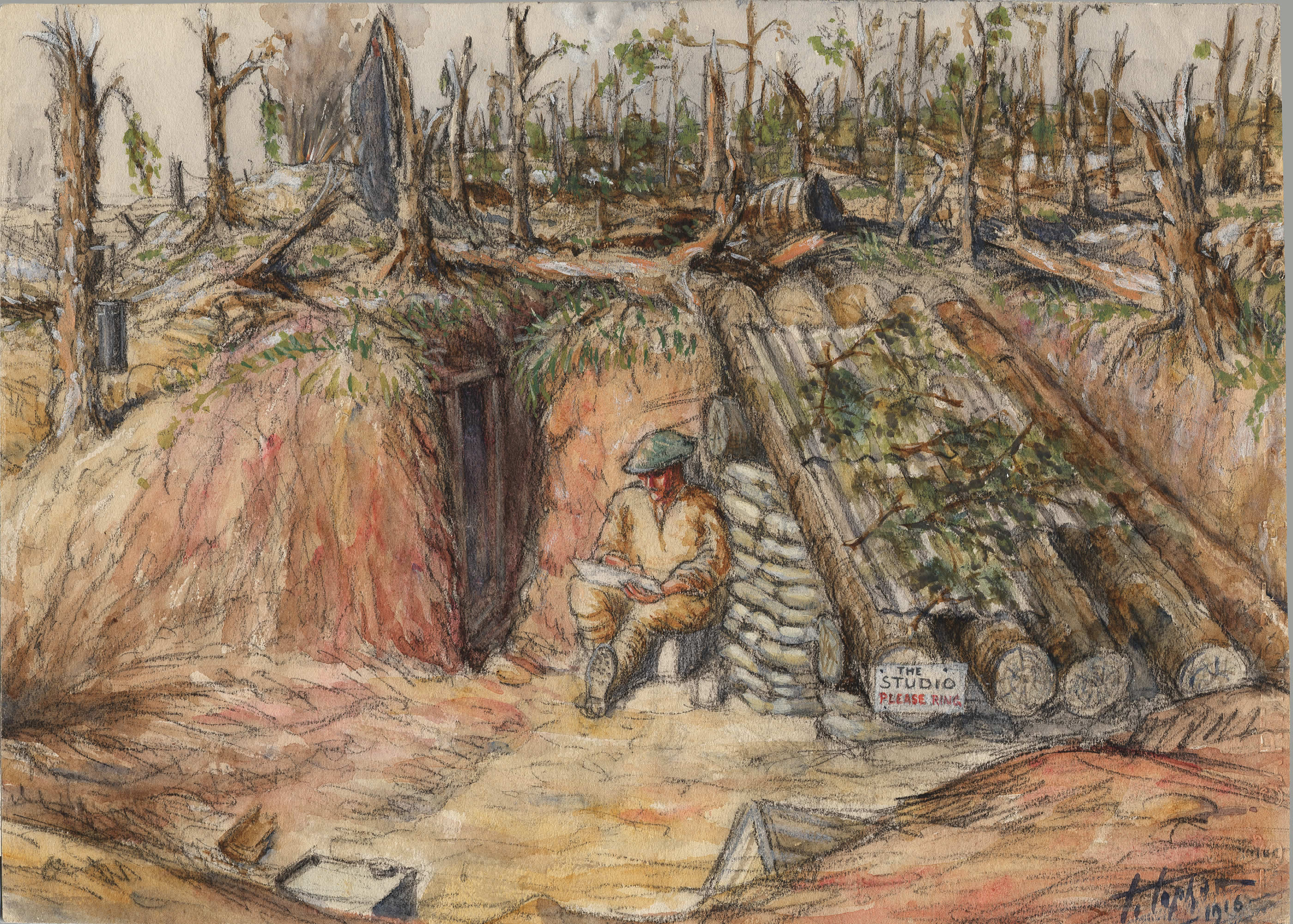 An Artist's Home on the Somme